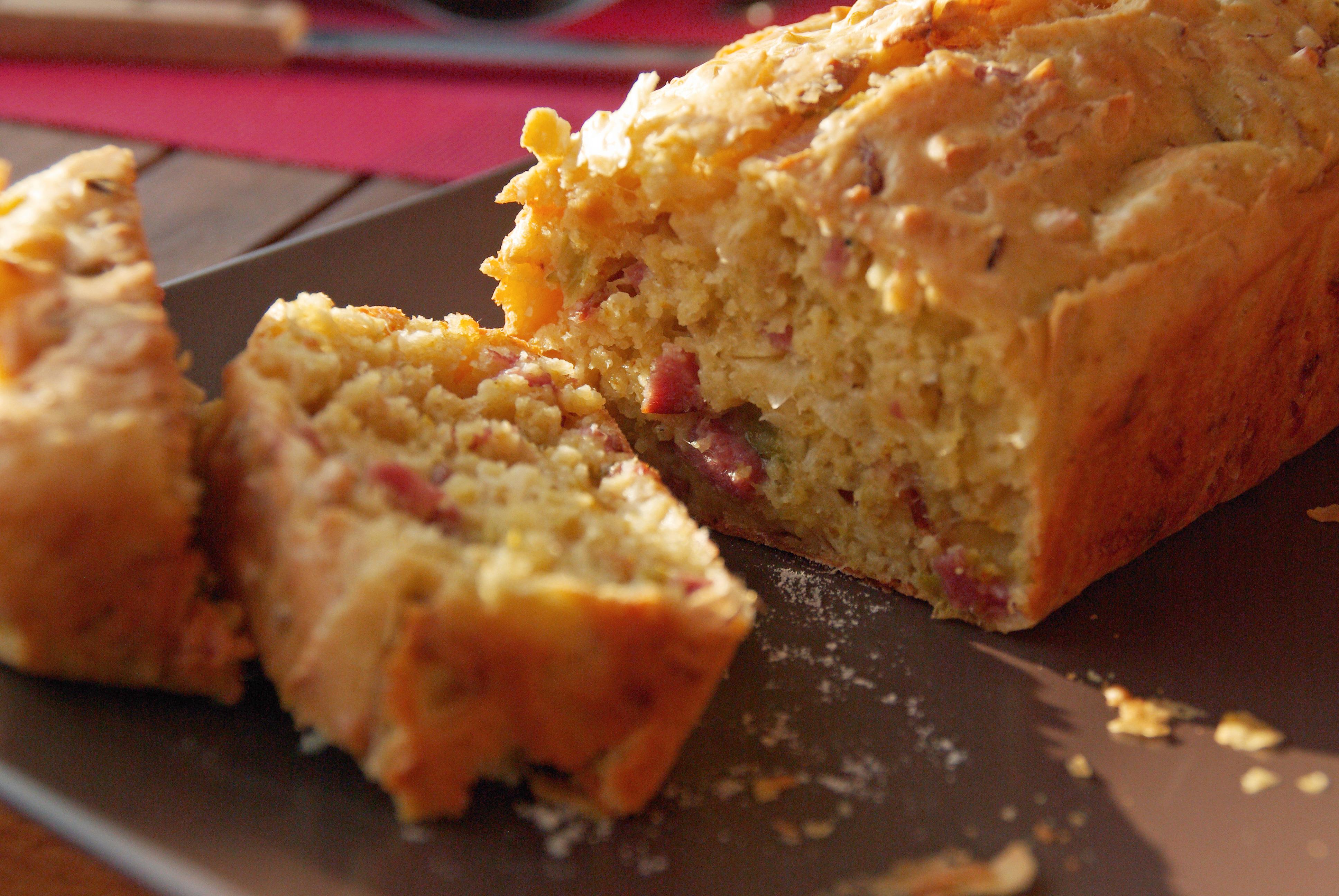 cake bacon et parmesan