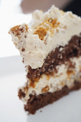 layer cake chocolat spéculoos part