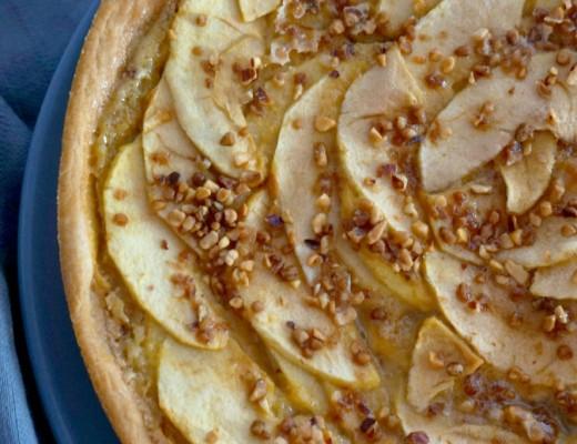 tarte pommes amandes pralin