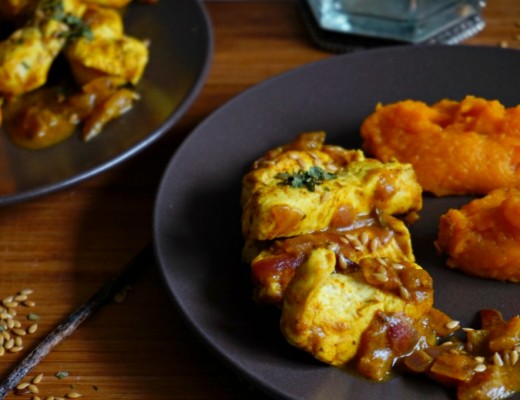 poulet curry patate douce