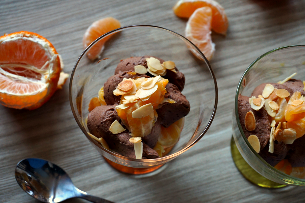 dessert automne clémentine et chcolat