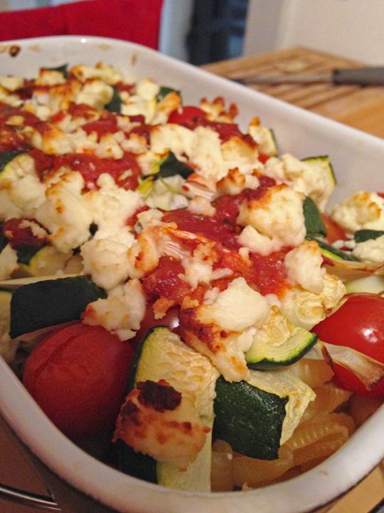 Gratin-de-pates-et-légumes