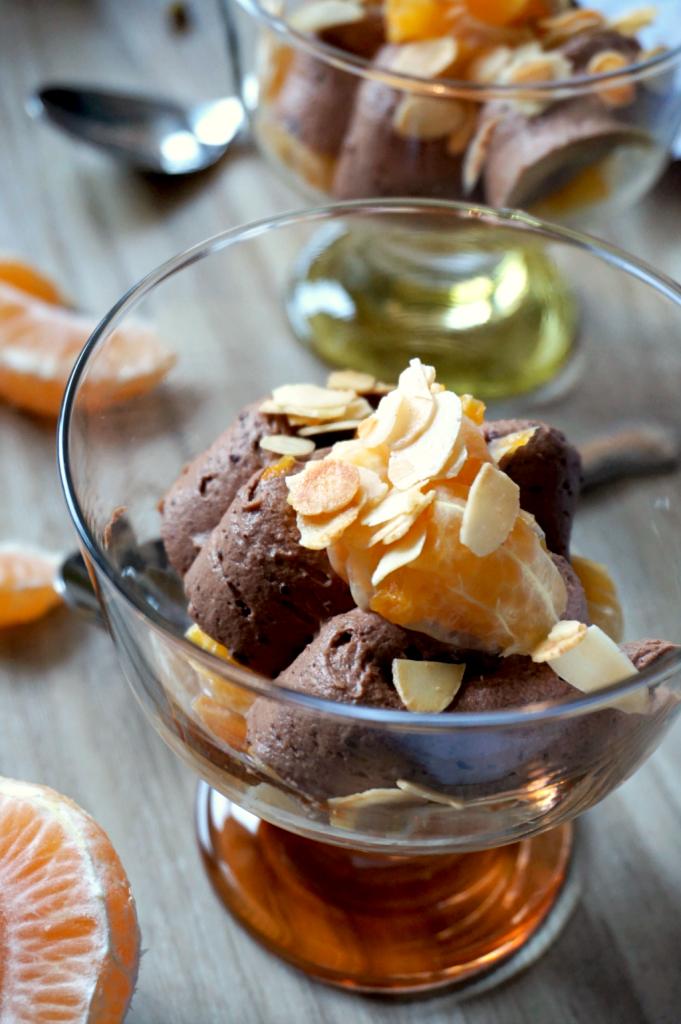 dessert gourmand clémentine et chcolat