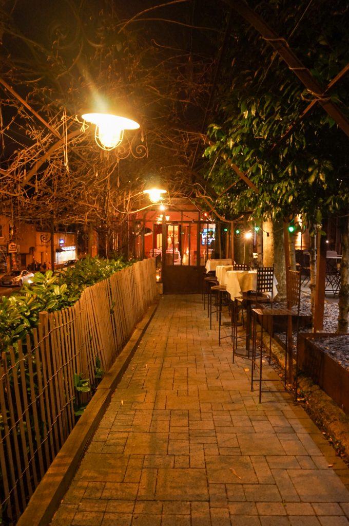 restaurant bistronomique Jardin gourmand cour
